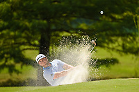 Jon Rahm (ESP) hits from the trap on 10 during round 2 of the WGC FedEx St. Jude Invitational, TPC Southwind, Memphis, Tennessee, USA. 7/26/2019.<br /> Picture Ken Murray / Golffile.ie<br /> <br /> All photo usage must carry mandatory copyright credit (© Golffile | Ken Murray)