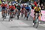 The main contenders Primoz Roglic (SLO) Team Jumbo-Visma tries to attack near the finish line of Stage 19 of the 2019 Giro d'Italia, running 151km from Treviso to San Martino di Castrozza, Italy. 31st May 2019<br /> Picture: Fabio Ferrari/LaPresse | Cyclefile<br /> <br /> All photos usage must carry mandatory copyright credit (© Cyclefile | Fabio Ferrari/LaPresse)