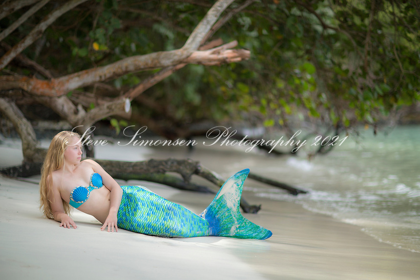 Mermaid at Maho Bay<br />