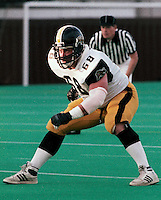 Mike Derks HamiltonTiger Cats 1986. Copyright photograph Scott Grant