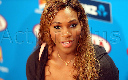 11.01.2014. Sydney, Australia. Australian Open Tennis Championships. World Tour, Grand Slam, Australian Open Serena Williams of the United States reacts during the news conference ahead of the Australian Open tennis tournament in Melbourne, Australia, Jan. 11, 2014.