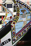 Artwork on Moliceiro Boats of Aveiro, Beiras Litoral, Portugal