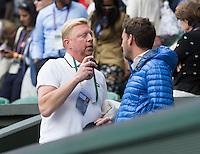 BORIS BECKER (GER)<br /> <br /> The Championships Wimbledon 2014 - The All England Lawn Tennis Club -  London - UK -  ATP - ITF - WTA-2014  - Grand Slam - Great Britain -  27th June 2014. <br /> <br /> © Tennis Photo Network