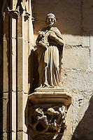 Sculture du Portail flamboyant de la chapelle Notre-Dame de Rocamadour.