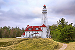 The Rawley Point Lighthouse At Twin Rivers Point On Lake Michigan, Wisconsin, USA
