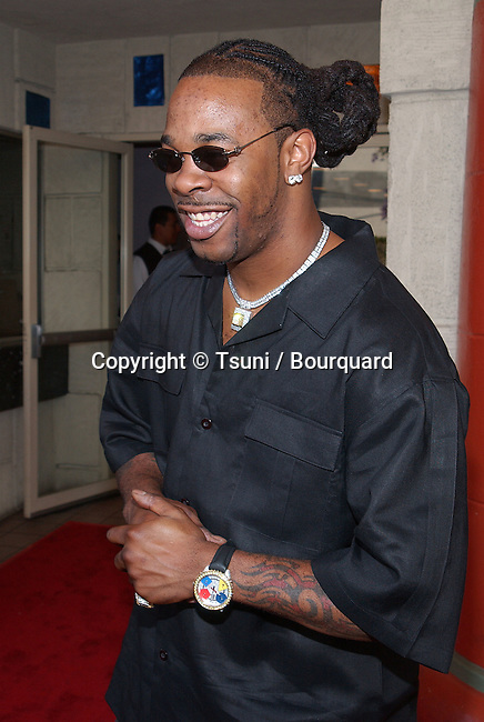Busta Rhymes arriving at the Halloween Resurrection premiere at the Mann Festival Theatre in Los Angeles. July 1st 2002.           -            RhymesBusta03.jpg