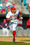 8 March 2006: Ian Desmond, infielder for the Washington Nationals, on his way to first base during a Spring Training game against the St. Louis Cardinals. The Cardinals defeated the Nationals 7-4 in 10 innings at Space Coast Stadium, in Viera, Florida...Mandatory Photo Credit: Ed Wolfstein.
