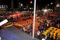 ***FOTO DE ARQUIVO***29.04.2014 - SÃO PAULO,SP,25.07.2014 - PRISÃO DE MANIFESTANTE - O manifestante e professor Jefte Rodrigues durante a manifestação:Não vai ter Copa.Rua Tuiuti, Shopping Metrô Tatuapé,região Leste da cidade de São Paulo.<br /> (Foto:Kevin David/Brazil Photo Press)