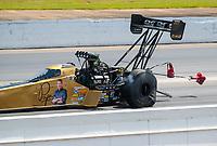 May 5, 2019; Commerce, GA, USA; NHRA top fuel driver Leah Pritchett during the Southern Nationals at Atlanta Dragway. Mandatory Credit: Mark J. Rebilas-USA TODAY Sports