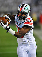 25 October 2014:  Ohio State RB Ezekiel Elliott (15). The Ohio State Buckeyes defeated the Penn State Nittany Lions 31-24 in 2 OTs at Beaver Stadium in State College, PA.