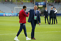 Nathan Redmond of England and England Under21 manager Aidy Boothroyd inspect the pitch before England Under-21 vs Poland Under-21, UEFA European Under-21 Championship Football at The Kolporter Arena on 22nd June 2017