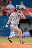Illinois State Redbirds outfielder Daniel Dwyer (32) during a game against the Miami Redhawks at Chain of Lakes Stadium on March 9, 2013 in Winter Haven, Florida.  Miami defeated Illinois State 4-2.  (Mike Janes/Four Seam Images)