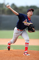 Alex House, #17 of Lake Howell High School, FL for the Cardinals Scout Team / FTB Chandler during the WWBA World Championship 2013 at the Roger Dean Complex on October 25, 2013 in Jupiter, Florida. (Stacy Jo Grant/Four Seam Images)