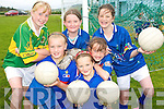 TOP TEAM: Young fooballers from Iveragh enjoying the Kerry GAA VHI Cul Camp in Renard on Friday last..Front L/r. Saidbh Fitzgerald (Caherciveen), Casey O'Donoghue (Caherciveen), Saoirse Kirby (Ballinskelligs). .Back L/r. Julie O'Connell (Caherciveen), Claire Sugrue (Renard) and Aoife Walsh (Dublin).   Copyright Kerry's Eye 2008