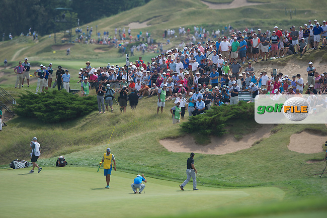 Huge crowds follow Jason Day and Jordan Spieth during the final round of the 2015 USPGA Championship at Whistling Straits (Photo: Anthony Powter)