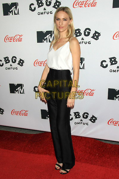 Mickey Sumner<br /> The New York Premiere of &quot;CBGB&quot; at the Landmark Sunshine Theater, New York, NY., USA.<br /> October 8th, 2013<br /> full length black white top trousers <br /> CAP/LNC/TOM<br /> &copy;LNC/Capital Pictures