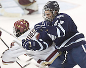 Brett Motherwell, Trevor Smith - The Boston College Eagles and University of New Hampshire earned a 3-3 tie on Thursday, March 2, 2006, on Senior Night at Kelley Rink at Conte Forum in Chestnut Hill, MA.  Boston College honored its three seniors, captain Peter Harrold and alternate captains Chris Collins and Stephen Gionta, before the game.