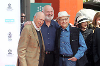 HOLLYWOOD, CA - APRIL 7:  Carl Reiner, Rob Reiner, Norman Lear pictured at the Father and Son Hand and Foot Print Ceremony for Carl Reiner and Rob Reiner at the TCL Chinese Theater in Hollywood, California on April 7, 2017. Credit: David Edwards/MediaPunch