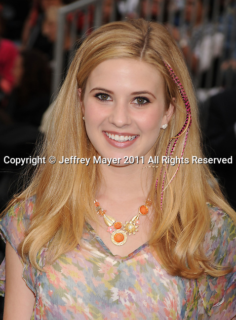 "ANAHEIM, CA - MAY 07: Caroline Sunshine arrives to the ""Pirates Of The Caribbean: On Stranger Tides"" World Premiere at Disneyland on May 7, 2011 in Anaheim, California."