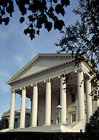 The Commonwealth (State) of Virginia's Capitol Building, designed by Thomas Jefferson. Richmond Virginia USA.