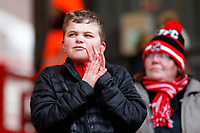 A young Fleetwood Town FC fan during the Sky Bet League 1 match between Charlton Athletic and Fleetwood Town at The Valley, London, England on 17 March 2018. Photo by Carlton Myrie.