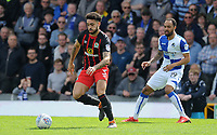 Blackburn Rovers' Derrick Williams battles with Bristol Rovers' Byron Moore<br /> <br /> Photographer Ashley Crowden/CameraSport<br /> <br /> The EFL Sky Bet League One - Bristol Rovers v Blackburn Rovers - Saturday 14th April 2018 - Memorial Stadium - Bristol<br /> <br /> World Copyright &copy; 2018 CameraSport. All rights reserved. 43 Linden Ave. Countesthorpe. Leicester. England. LE8 5PG - Tel: +44 (0) 116 277 4147 - admin@camerasport.com - www.camerasport.com