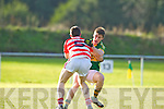 Stephen O'Brien  Kerry in action against Rory O'Sullivan Cork IT in the semi final of the McGrath Cup at John Mitchells Grounds on Sunday.