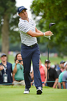 Justin Thomas (USA) watches his tee shot on 4 during Rd3 of the 2019 BMW Championship, Medinah Golf Club, Chicago, Illinois, USA. 8/17/2019.<br /> Picture Ken Murray / Golffile.ie<br /> <br /> All photo usage must carry mandatory copyright credit (© Golffile   Ken Murray)