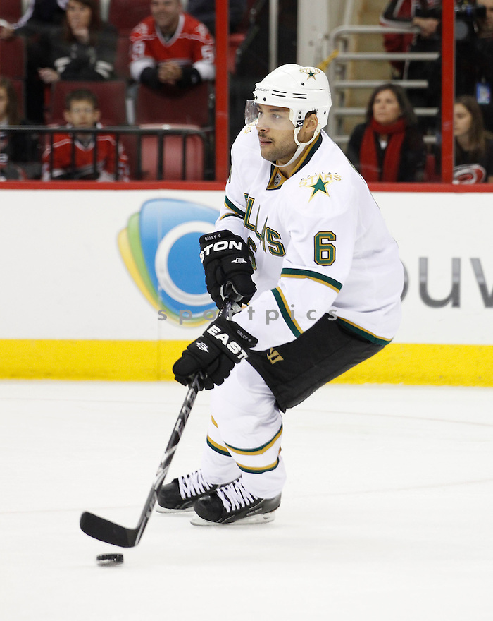 TREVOR DALEY, of the Dallas Stars, in action during the Stars game against the Carolina Hurricanes, on November 29, 2010 at the RBC Center in Raleigh, NC. The Stars beat the Hurricanes 4-1.