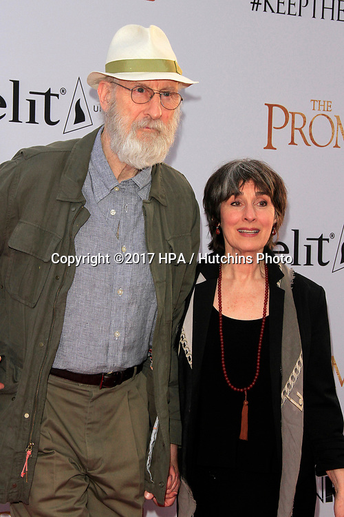 """LOS ANGELES - APR 12:  James Cromwell, Anna Stewart at the """"The Promise"""" Premiere at the TCL Chinese Theater IMAX on April 12, 2017 in Los Angeles, CA"""