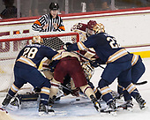 - The Boston College Eagles defeated the University of Notre Dame Fighting Irish 6-4 (EN) on Saturday, January 28, 2017, at Kelley Rink in Conte Forum in Chestnut Hill, Massachusetts.The Boston College Eagles defeated the University of Notre Dame Fighting Irish 6-4 (EN) on Saturday, January 28, 2017, at Kelley Rink in Conte Forum in Chestnut Hill, Massachusetts.