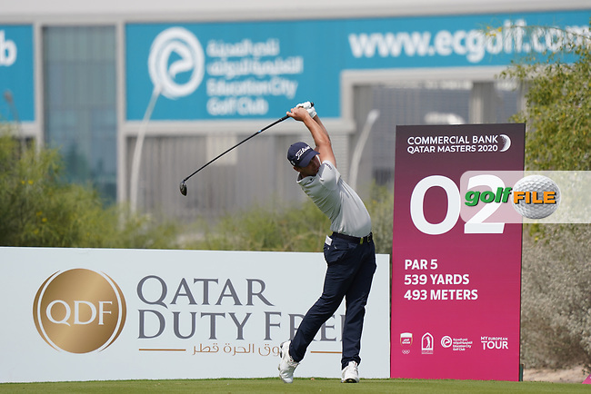 Lorenzo Gagli (ITA) during the final round of the Commercial Bank Qatar Masters 2020, Education City Golf Club , Doha, Qatar. 08/03/2020<br /> Picture: Golffile   Phil Inglis<br /> <br /> <br /> All photo usage must carry mandatory copyright credit (© Golffile   Phil Inglis)
