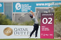 Lorenzo Gagli (ITA) during the final round of the Commercial Bank Qatar Masters 2020, Education City Golf Club , Doha, Qatar. 08/03/2020<br /> Picture: Golffile | Phil Inglis<br /> <br /> <br /> All photo usage must carry mandatory copyright credit (© Golffile | Phil Inglis)