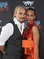 "HOLLYWOOD, CA - April 19: Zoe Saldana, Marco Perego, At Premiere Of Disney And Marvel's ""Guardians Of The Galaxy Vol. 2"" At The Dolby Theatre  In California on April 19, 2017. Credit: FS/MediaPunch"