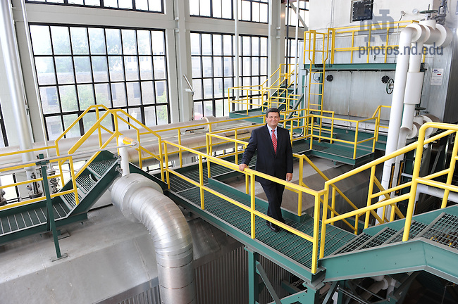 Paul Kempf in the Power Plant for the Business Operations Annual Report