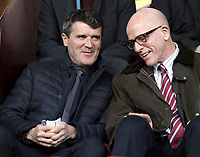 Republic of Ireland assistant manager Roy Keane (left) takes his seat ahead of kick-off<br /> <br /> Photographer Rich Linley/CameraSport<br /> <br /> The Premier League - Burnley v Leicester City - Saturday 14th April 2018 - Turf Moor - Burnley<br /> <br /> World Copyright &copy; 2018 CameraSport. All rights reserved. 43 Linden Ave. Countesthorpe. Leicester. England. LE8 5PG - Tel: +44 (0) 116 277 4147 - admin@camerasport.com - www.camerasport.com
