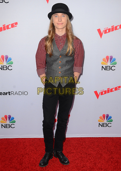 23 April 2015 - West Hollywood, California - Sawyer Fredericks. Arrivals for The Voice Spring Break Concert held at The Pacific Design Center.  <br /> CAP/ADM/BT<br /> &copy;BT/AdMedia/Capital Pictures