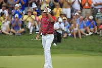 Bubba Watson (USA) putts on the 7th green during Thursday's Round 1 of the 2014 PGA Championship held at the Valhalla Club, Louisville, Kentucky.: Picture Eoin Clarke, www.golffile.ie: 7th August 2014