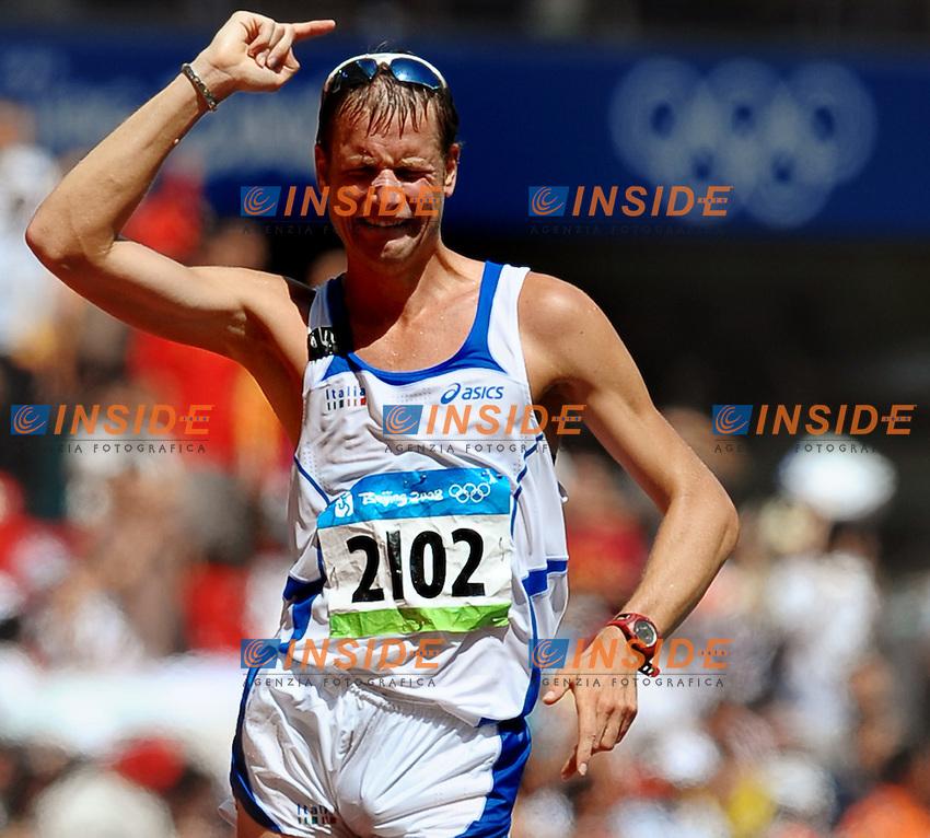 Alex Schwazer Medaglia D oro, golden medal, 20Km Walk. 20Km Marcia.National Stadium - Atletica Leggera.Pechino - Beijing 22/8/2008 Olimpiadi 2008 Olympic Games.Foto Andrea Staccioli Insidefoto
