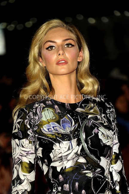 WWW.ACEPIXS.COM<br /> <br /> US SALES ONLY<br /> <br /> October 6, 2014, London, England<br />  <br /> Tamsin Egerton arriving at the World Premiere of 'Love, Rosie' held at Odeon West End on October 6, 2014 in London, England.<br /> <br /> By Line: Famous/ACE Pictures<br /> <br /> ACE Pictures, Inc<br /> Tel: 646 769 0430<br /> Email: info@acepixs.com