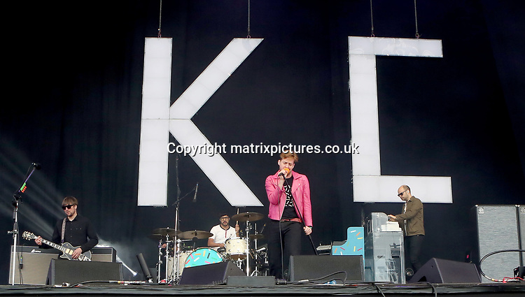 PICTURE: GRAHAM READING / MATRIXPICTURES.CO.UK<br /> PLEASE CREDIT ALL USES<br /> <br /> WORLD RIGHTS<br /> <br /> Ricky Wilson of the Kaiser Chiefs performs on day 2 of the Isle of Wight Festival at Seaclose Park.<br /> <br /> JUNE 9th 2017<br /> <br /> REF: GRG 171203