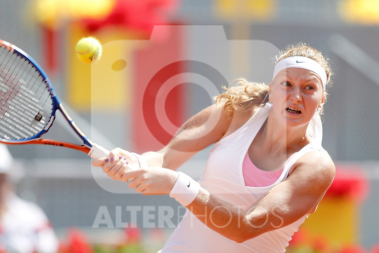Petra Kvitova during Madrid Open Tennis tournament Match. May 08, 2011. (ALTERPHOTOS/Alvaro Hernandez)