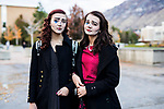 _E1_2147<br /> <br /> 1610-85 GCI Halloween Costumes<br /> <br /> October 31, 2016<br /> <br /> Photography by: Nathaniel Ray Edwards/BYU Photo<br /> <br /> &copy; BYU PHOTO 2016<br /> All Rights Reserved<br /> photo@byu.edu  (801)422-7322<br /> <br /> 2147