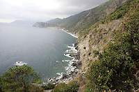Una veduta della costa delle Cinque Terre.<br /> A view of the coast of the Cinque Terre.<br /> UPDATE IMAGES PRESS/Riccardo De Luca