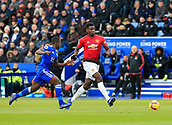 3rd February 2019, King Power Stadium, Leicester, England; EPL Premier League Football, Leicester City versus Manchester United; Paul Pogba of Manchester United passes the ball out wide