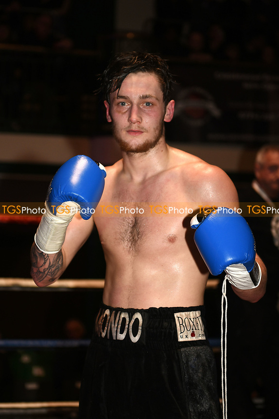 Jez Smith (black shorts) defeats Stanislav Nenkov during a Boxing Show at York Hall on 18th March 2017