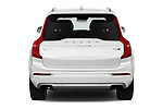 Straight rear view of a 2018 Volvo XC90 T8 Twin Engine Plug-in Inscription 5 Door SUV stock images