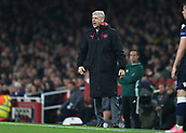 2nd November 2017, Emirates Stadium, London, England; UEFA Europa League group stage, Arsenal versus Red Star Belgrade; Arsenal manager Arsene Wenger shouting at his players from the touchline during the 2nd half