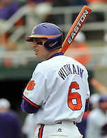Clemson shortstop Stan Widmann in a game between the Clemson Tigers and Mercer Bears on Feb. 24, 2008, at Doug Kingsmore Stadium in Clemson, S.C. Photo by: Tom Priddy/Four Seam Images