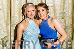 Lisa Flynn (Cordal) and Grainne Walsh (Scartaglin) at the St Pat's and Castleisland Community College Debs in the Earl of Desmond Hotel on Friday nig